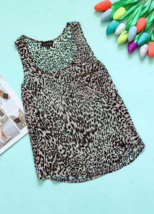 Легкая блуза в леопардовый принт