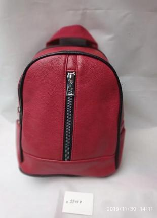Рюкзак женский 26*20 красный