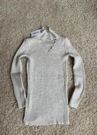 Теплий зимовий гольф тёплая зимняя водолазка в'язаний светр вязаный свитер