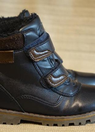 Отличные темно-синие утепленные кожаные ботинки george англия 9 р.( 27 р.)