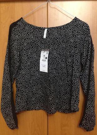 Милая блуза в горошек bershka