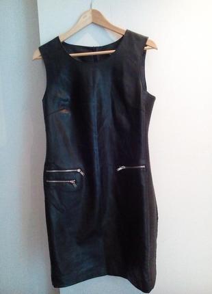 Стильное платье из искусственной кожи reserved