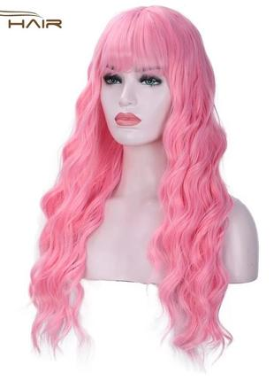 Парик, розовый парик