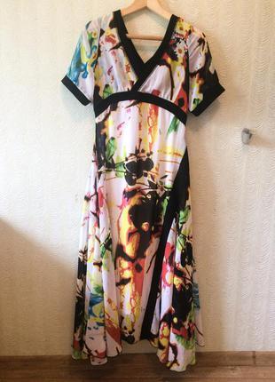 Платье шифон длинное