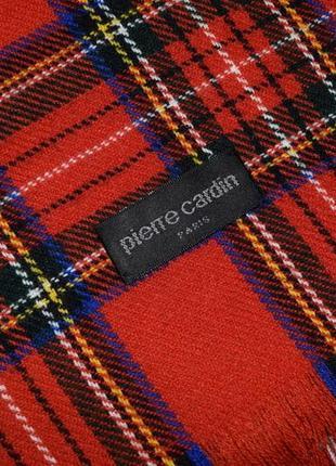Шарф pierre cardin шарф в клетку яркий брендовый шарф