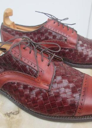 """Дрогие кожаные, плетенные туфли  """" allen edmonds """" 45-45.5 р. ( 30.5 см ). сша."""