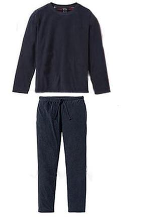 Мужской флисовый костюм для дома, флисовая пижама l 52 54 euro livergy германия