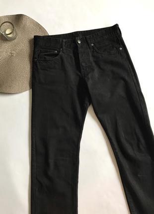 Чёрные прямые джинсы h&m