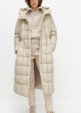 Пальто-пуховик теплый reserved  на размер l /xl из польши