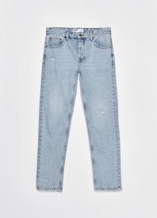Голубые джинсы bershka