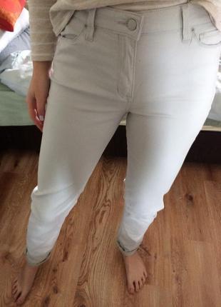 Белые джинсы штаны скини