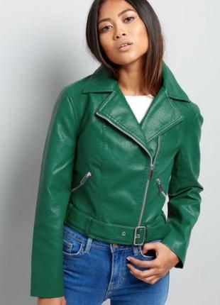 Ультра трендовая зеленая косуха new look
