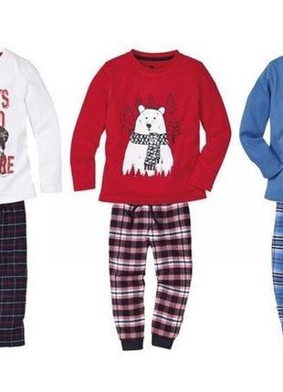 Піжама на хлопчика lupilu, пижама хлопок + байка