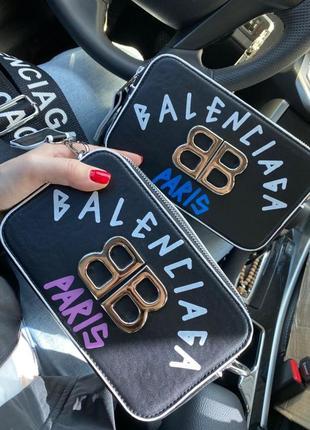 Кроссбоди balencia'ga сумка с длинным ремешком