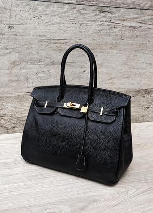 Кожаная сумка в стиле hermes birkin 100% натуральная кожа