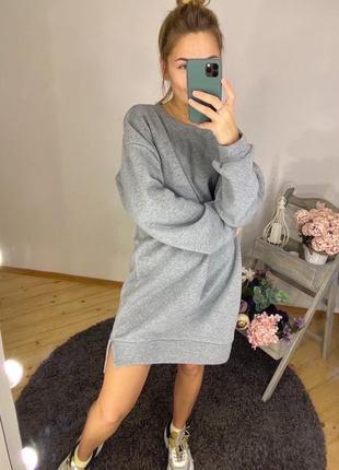 Платье-худи тёплое на флисе