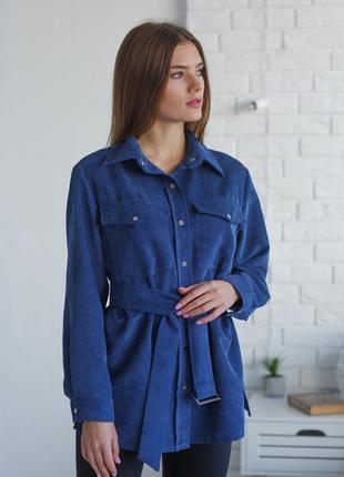 Рубашка вельветовая over size miss casual
