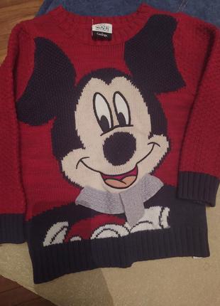 Вязаный свитер george, супер красивый, на 3-4 года+. как новый.