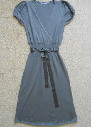 Платье inwear с атласным поясом трикотажное