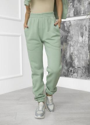Брюки-джоггеры на флисе, теплые спортивные брюки, жіночі штани на флісі