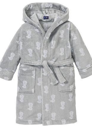 Шикарный плюшевый халат lupilu