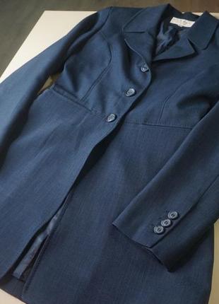 Удлиненный пиджак синий