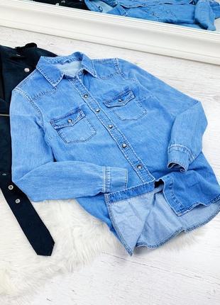 Джинсовая рубашка topshop