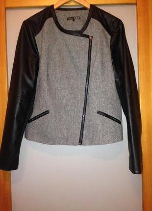 Куртка-косуха с рукавами из искусственной кожи