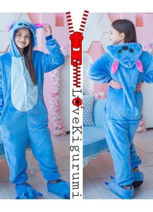 🎁подари тепло ❤ супер комфортные пижамы кигуруми стич