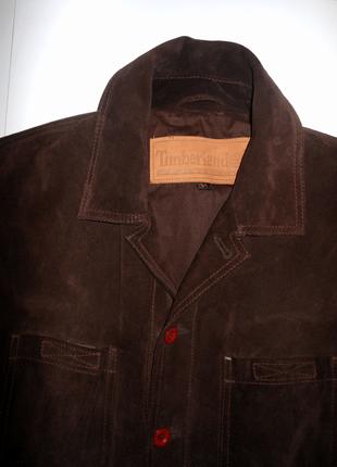 Куртка timberland натуральная замша кожа коричневая шоколадная  пиджак оригинал