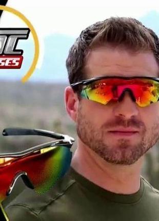 Окуляри спортивні антиблискові tac glasses (очки тактические антибликовые) uv400