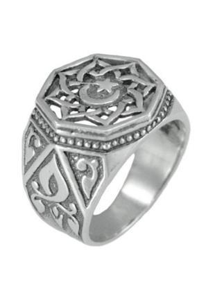 Серебряное кольцо, печатка, перстень, 925, оксидированное серебро
