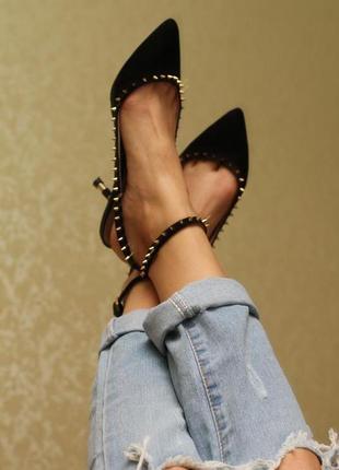 Туфли с открытой пяткой zara