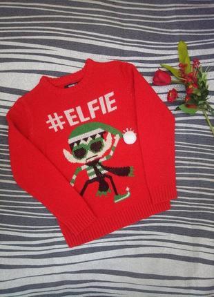 Продам свитер новогодний с эльфом