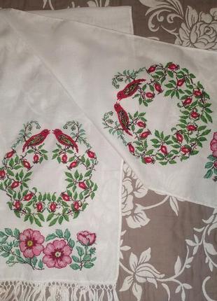 Вишитий рушник весільний ручної роботи