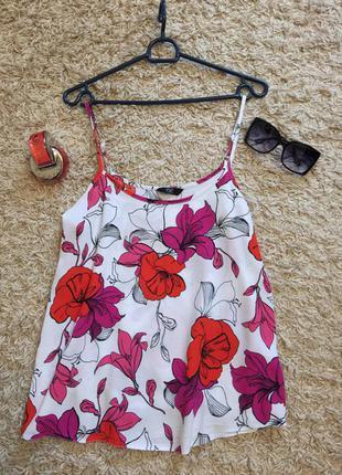 Классная блуза/топ/майка в цветах от f&f
