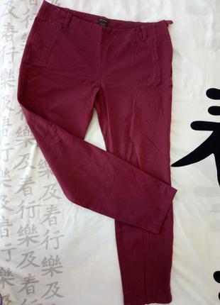 Штаны укороченные, оригинал, бордо