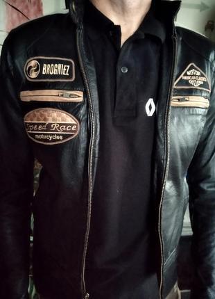 Женская кожаная куртка-косуха / мотокуртка/