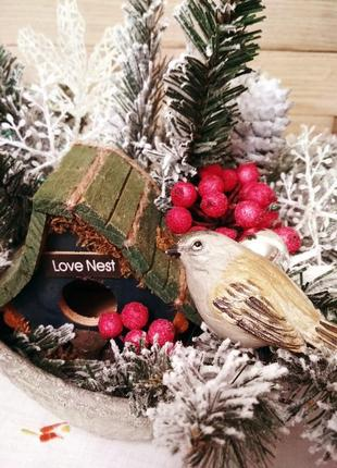 Сезонный декор для дома, зимняя, новогодняя интерьерная композиция, керамика