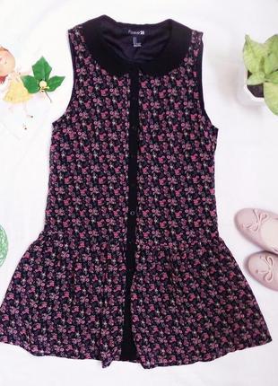 Крутецкое летнее платье в цветы forever 21