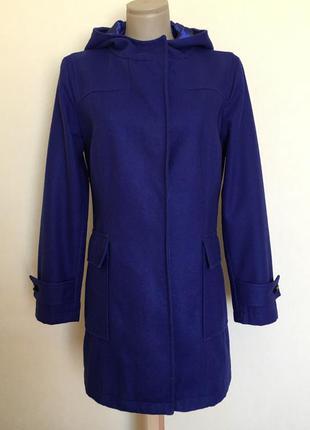 Доступно - пальто с капюшоном в красивом оттенке *atmosphere* 10 р. - 41% шерсть