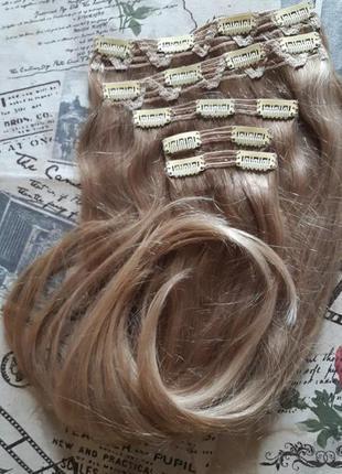 Натуральные волосы на заколках европейские