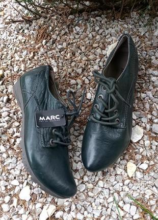 Marc, мега стильние туфли, натуральная кожа