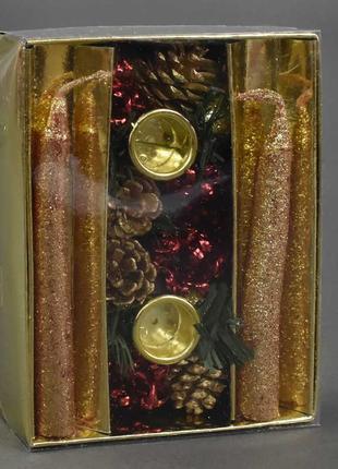 Рождественский подсвечник с 22737 192 в наборе свечи 2шт