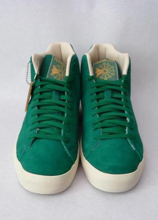 Reebok замшевые высокие кроссовки 38 размер нежно зеленый цвет новые из сша