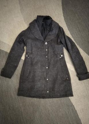 Симпатичное пальто грифельного цвета