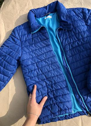 Синяя/голубая куртка/пуховик h&m