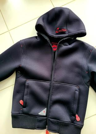 Мега теплая куртка из неопрена на меху