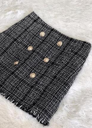 Твидовая юбка shein