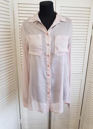Стильная бежевая блуза рубашка guess